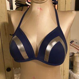 Victoria's Secret navy blue/ silver sm DD bikini